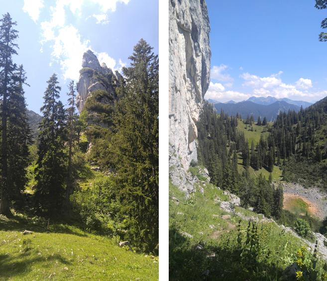 Aufstieg entlang der Blankenstein Südwand