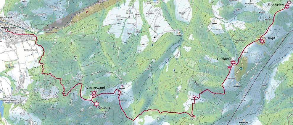 Von der Hochries über Feichteck und Heuberg nach Nußdorf