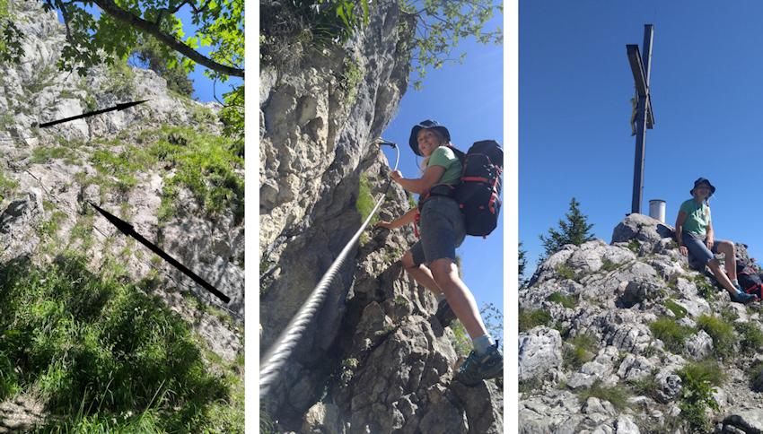 Kletterei auf die Wasserwand