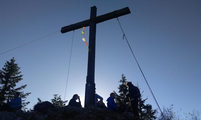 Gipfel vom Feichteck am Abend