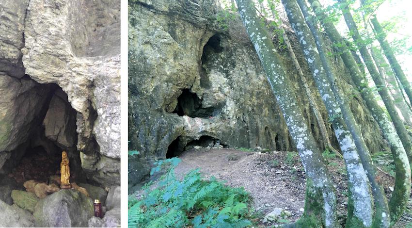 Lourdesgrotte unterm Leonhardstein bei Kreuth