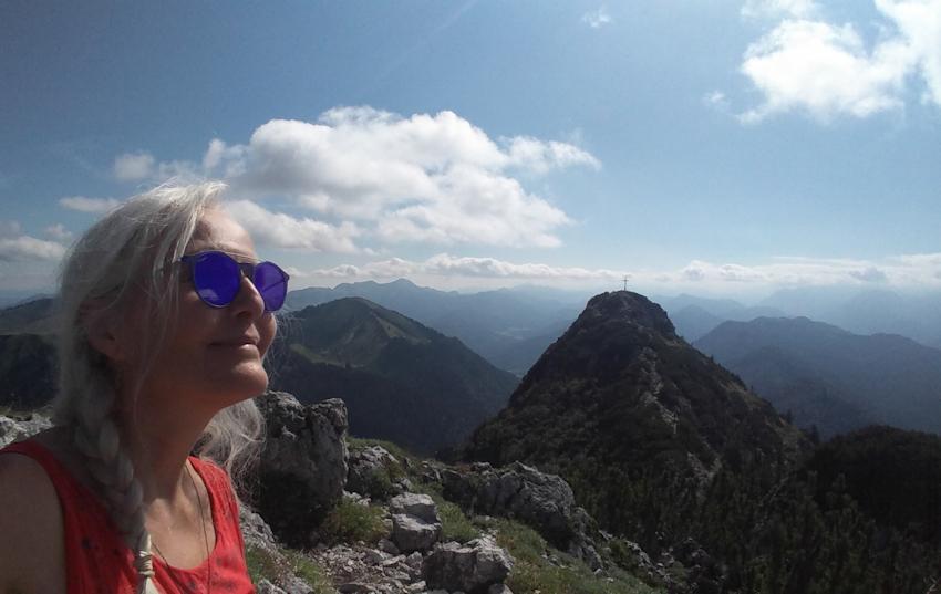Aussicht mit Roßstein vom Gipfel des Buchstein