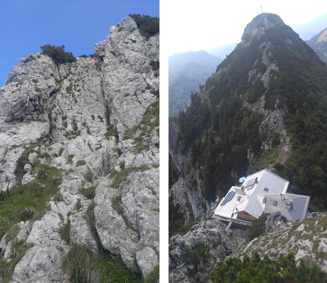 Aufstiegskletterei zum Buchstein Gipfel