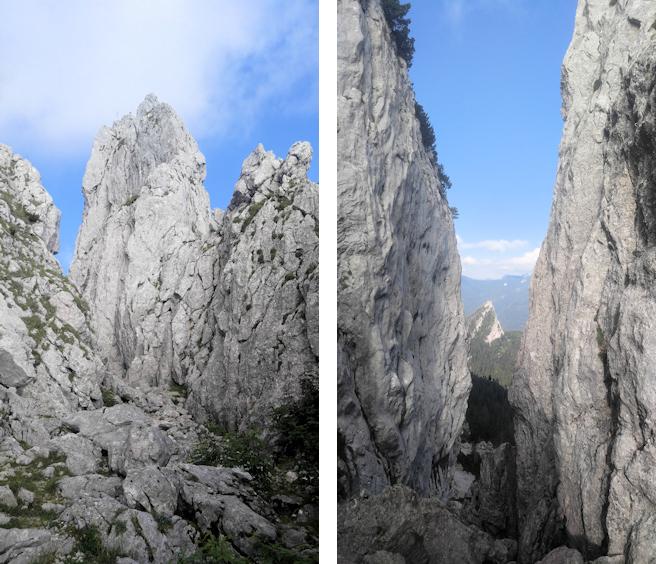 Felsenschlucht an der Roßsteinnadel