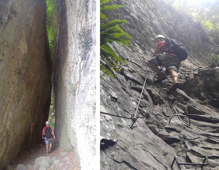 Spektakulärer Klettersteig durch die Schlucht des Rio Sallagoni