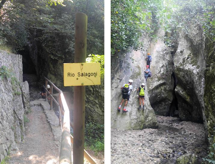 Zustieg zum Klettersteig Rio Sallagoni im Sarcatal